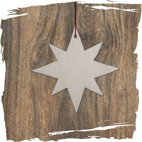 Stern, 8-Strahl, natur