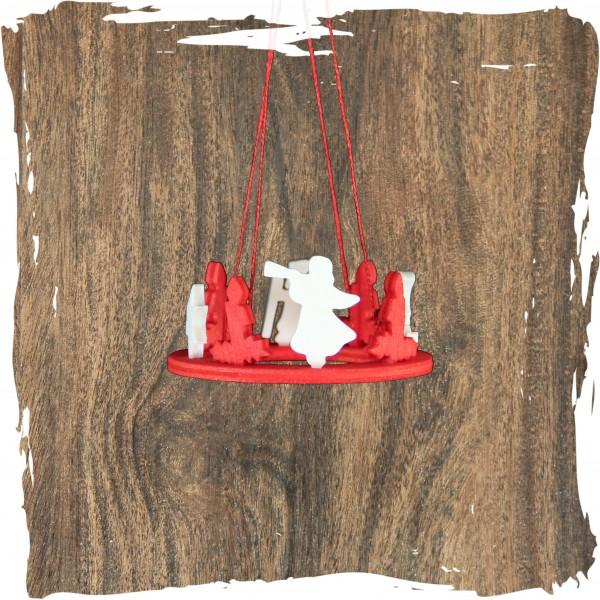 Adventskranz, rot