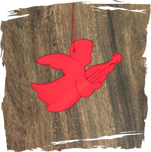 Engel mit Gitarre, rot