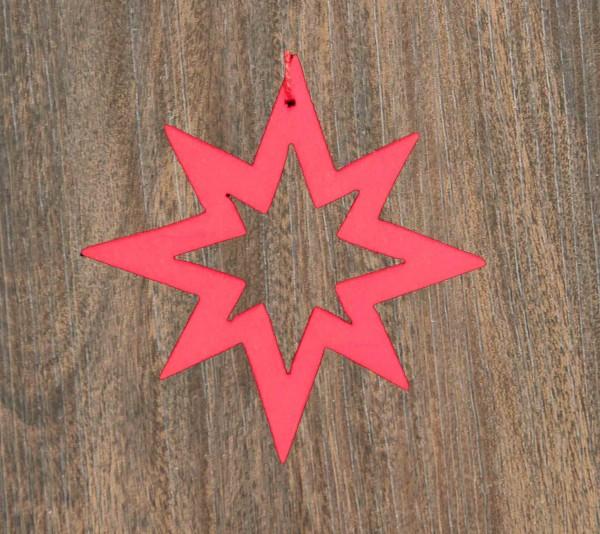 Stern offen, 8-Strahl, rot, Weihnachtsdeko aus Holz