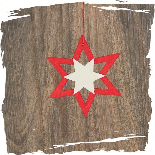 zweifarbiger Stern, rot