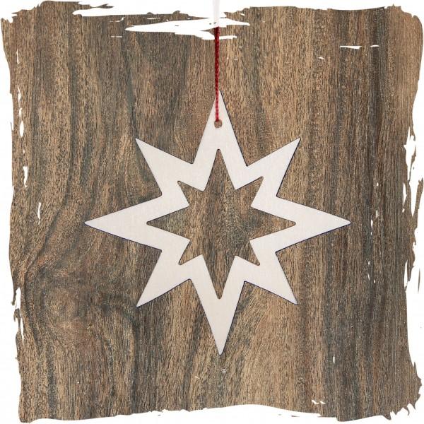 Stern offen, 8-Strahl, natur, Weihnachtsdeko aus Holz