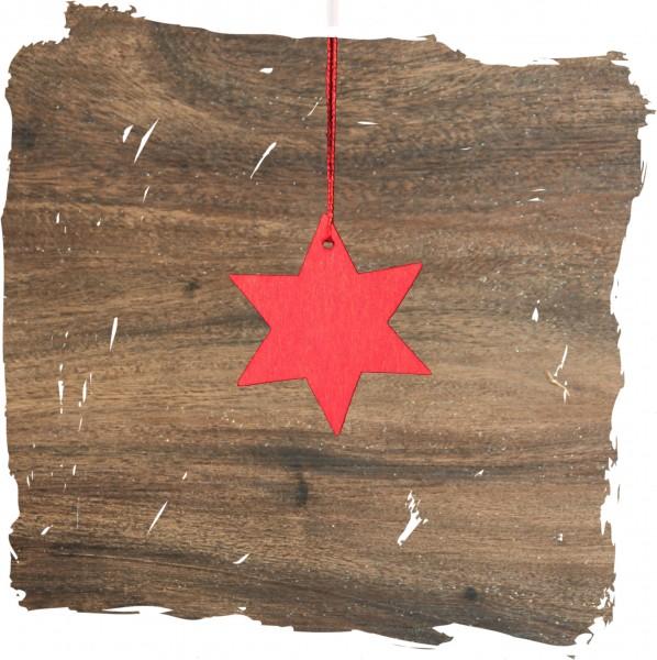 Kleiner Stern, rot, Weihnachtsdeko aus Holz