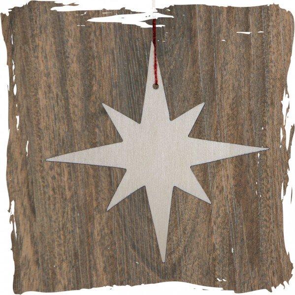 Stern, 8-Strahl schmal, natur