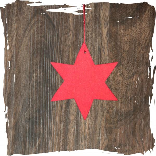 Stern, rot, Weihnachtsdeko aus Holz