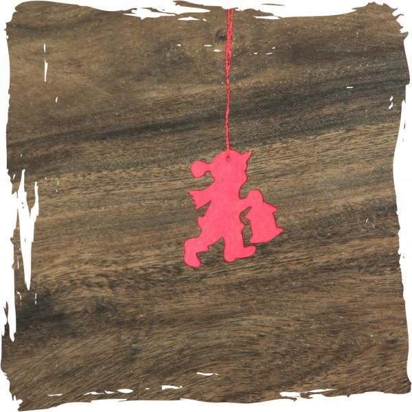 Kleiner Junge mit Laterne, rot