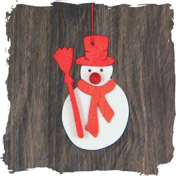 Schneemann mit Schal, natur