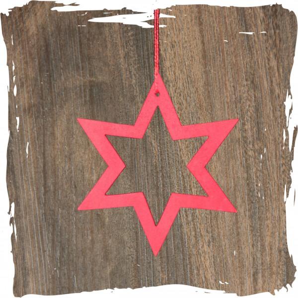 Stern offen, rot, Weihnachtsdeko aus Holz