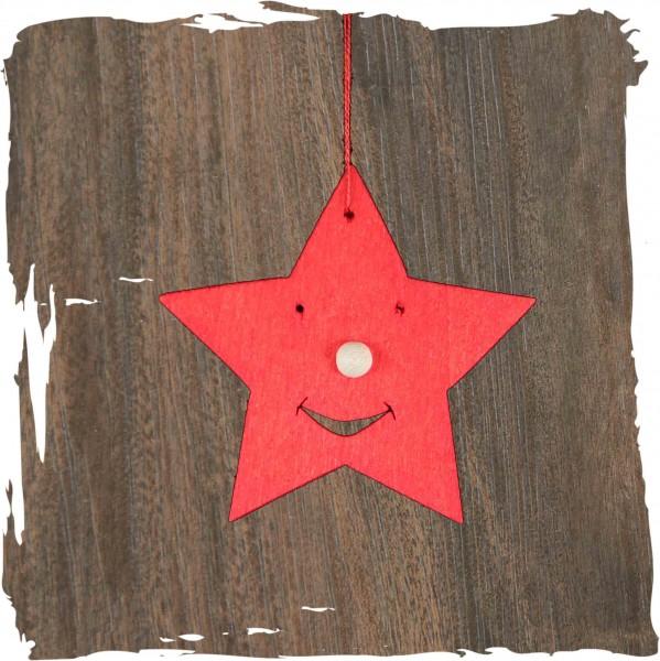 Sternengesicht, rot