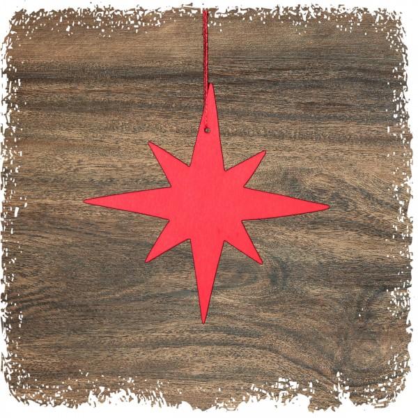 Stern, 8-Strahl schmal, rot